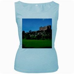 Powis Castle Terraces Women s Baby Blue Tank Tops by trendistuff