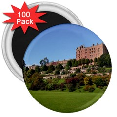 Powis Castle Terraces 3  Magnets (100 Pack) by trendistuff