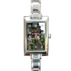 Paro Taktsang Rectangle Italian Charm Watches by trendistuff