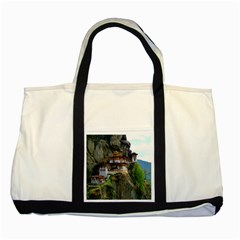 Paro Taktsang Two Tone Tote Bag  by trendistuff