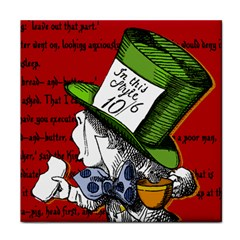 The Mad Hatter Tile Coasters by waywardmuse