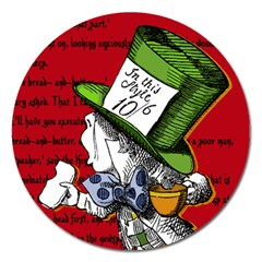 The Mad Hatter Magnet 5  (round) by waywardmuse