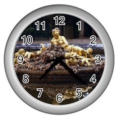 Palace Of Versailles 3 Wall Clocks (silver)  by trendistuff
