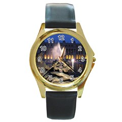 Palace Of Versailles 2 Round Gold Metal Watches by trendistuff