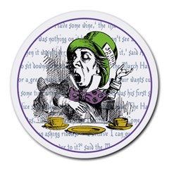 The Mad Hatter Round Mousepads by waywardmuse