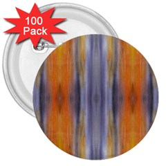 Gray Orange Stripes Painting 3  Buttons (100 Pack)  by Costasonlineshop