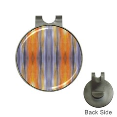 Gray Orange Stripes Painting Hat Clips With Golf Markers by Costasonlineshop