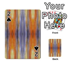 Gray Orange Stripes Painting Playing Cards 54 Designs  by Costasonlineshop