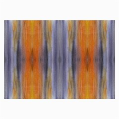 Gray Orange Stripes Painting Large Glasses Cloth by Costasonlineshop
