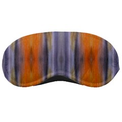 Gray Orange Stripes Painting Sleeping Masks by Costasonlineshop