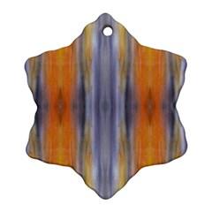 Gray Orange Stripes Painting Ornament (snowflake)  by Costasonlineshop