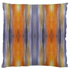 Gray Orange Stripes Painting Standard Flano Cushion Cases (two Sides)  by Costasonlineshop