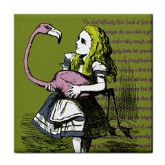 Flamingo Croquet Tile Coasters by waywardmuse