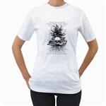 Skull & Books Women s T-Shirt (White)