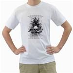 Skull & Books Men s T-Shirt (White)