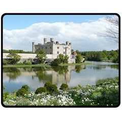 Leeds Castle Fleece Blanket (medium)  by trendistuff