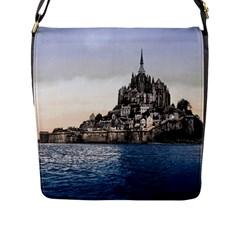 LE MONT ST MICHEL 2 Flap Messenger Bag (L)  by trendistuff