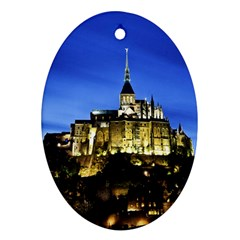 Le Mont St Michel 1 Oval Ornament (two Sides) by trendistuff