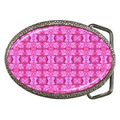 Pretty Pink Flower Pattern Belt Buckles by Costasonlineshop