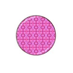 Pretty Pink Flower Pattern Hat Clip Ball Marker (10 pack) by Costasonlineshop