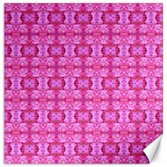 Pretty Pink Flower Pattern Canvas 16  X 16   by Costasonlineshop