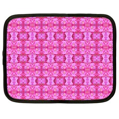 Pretty Pink Flower Pattern Netbook Case (xxl)  by Costasonlineshop