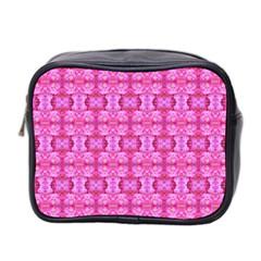 Pretty Pink Flower Pattern Mini Toiletries Bag 2 Side by Costasonlineshop