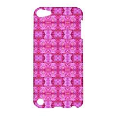 Pretty Pink Flower Pattern Apple Ipod Touch 5 Hardshell Case by Costasonlineshop