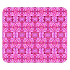 Pretty Pink Flower Pattern Double Sided Flano Blanket (small)  by Costasonlineshop