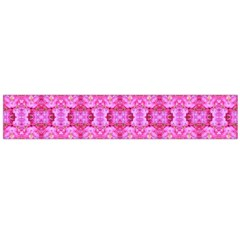 Pretty Pink Flower Pattern Flano Scarf (large)  by Costasonlineshop