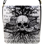 Skull & Books Flap Messenger Bag (S)