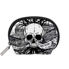 Skull & Books Accessory Pouches (small)  by waywardmuse