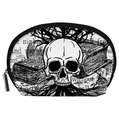 Skull & Books Accessory Pouches (large)  by waywardmuse