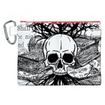 Skull & Books Canvas Cosmetic Bag (XXL)