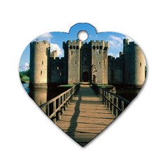 Bodiam Castle Dog Tag Heart (two Sides) by trendistuff