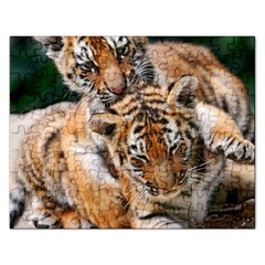 Baby Tigers Rectangular Jigsaw Puzzl by trendistuff