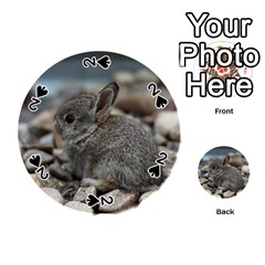 Small Baby Bunny Playing Cards 54 (round)  by trendistuff