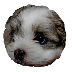 Sad Puppy Large 18  Premium Round Cushions by trendistuff