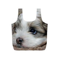Sad Puppy Full Print Recycle Bags (s)  by trendistuff
