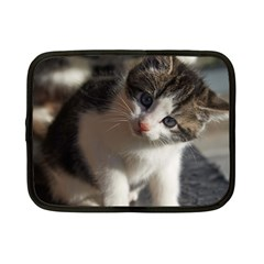 QUESTIONING KITTY Netbook Case (Small)  by trendistuff