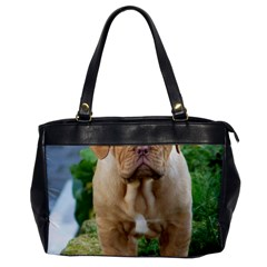 Cute Wrinkly Puppy Office Handbags by trendistuff