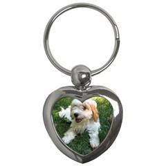 Cute Cavapoo Puppy Key Chains (heart)  by trendistuff
