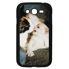 Calico Cat And White Kitty Samsung Galaxy Grand Duos I9082 Case (black) by trendistuff