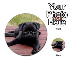 Alert Pug Puppy Multi Purpose Cards (round)  by trendistuff