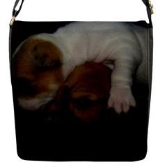Adorable Baby Puppies Flap Messenger Bag (s) by trendistuff