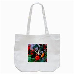Butterfly Flowers 1 Tote Bag (white)  by trendistuff