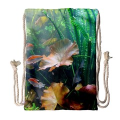 Marine Life Drawstring Bag (large) by trendistuff