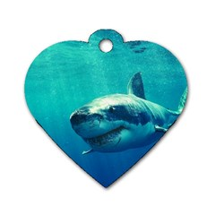 Great White Shark 1 Dog Tag Heart (two Sides) by trendistuff