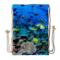 Fr Frigate Shoals Drawstring Bag (large) by trendistuff