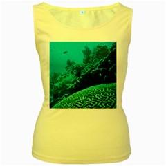 CORAL REEFS 2 Women s Yellow Tank Tops by trendistuff